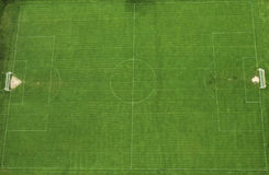 Soccer field. An aerial view of an soccer field in 1 Decembrie village, Romania Royalty Free Stock Photos