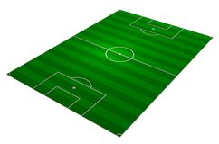 Soccer field angled stock photos