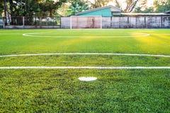Soccer field artificial grass Stock Photography