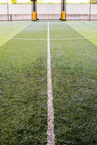 Soccer field artificial grass Royalty Free Stock Photos