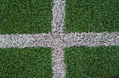 Soccer field artificial grass Royalty Free Stock Photography