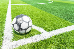 Soccer Field With Artificial Turf. Stock Photo