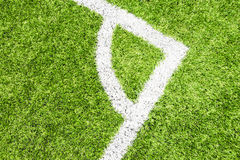 Soccer Field With Artificial Turf. Stock Photography