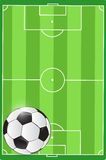 Soccer field and ball illustration. Design graphic Royalty Free Stock Photography