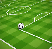 Soccer field with the ball illustration Royalty Free Stock Images