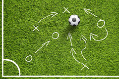 Soccer field ball strategy plan Stock Photo