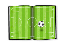 Soccer field, book design Royalty Free Stock Images