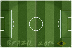 Soccer field Brazil 2014. Soccer field concept for Brazil 2014 Stock Photography