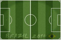 Soccer field Brazil 2014 Stock Photography