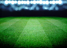 Soccer field. And the bright lights