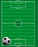Soccer field card Stock Images