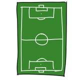 Soccer field cartoon Royalty Free Stock Photography