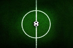 Soccer field center and ball Royalty Free Stock Photos