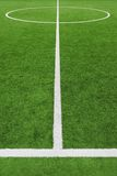 Soccer field, center and sideline Stock Photography