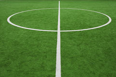 Soccer field, center and sideline Royalty Free Stock Images