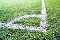 Soccer field close-ups. Of markings of the field Stock Photos