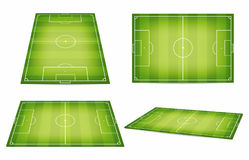 Free Soccer Field Collection. Football Fields. Top View And Perspective View Stock Photo - 95111930