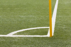 Soccer field corner Royalty Free Stock Image