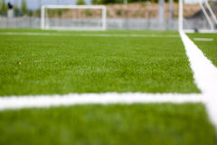 Soccer field corner Royalty Free Stock Photos