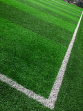 Soccer field corner markers Royalty Free Stock Photo