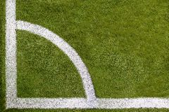 Soccer field corner Topview Royalty Free Stock Photos