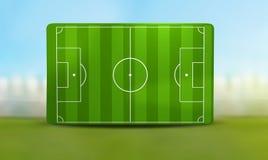 Soccer field 3D illustration. Design Stock Photos