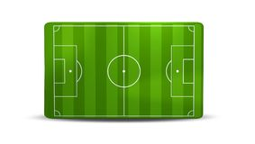Soccer field 3D illustration. Isolated design Stock Images