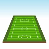Soccer Field. 3D Perspective of soccer field Royalty Free Stock Photo