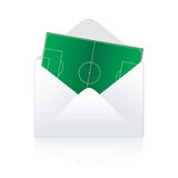 Soccer field delivery. Vector illustration Royalty Free Stock Photography