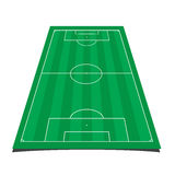 Soccer field. Detailed illustration of a soccer field with front perspective Stock Photography