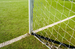 Soccer field. And door net Stock Photography