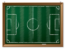 Soccer field drawn on chalkboard Stock Photo