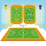 Soccer Field Editable With Space For Text Stock Images