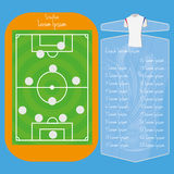 Soccer Field Editable With Space For Text Stock Photography