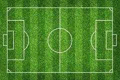 Soccer field or football field for background. With green lawn pattern. Soccer field or football field for background. With green lawn court pattern stock photo