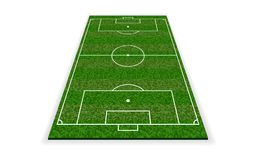Soccer field. Football european field. Vector illustration royalty free illustration
