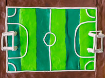Soccer field or football field Royalty Free Stock Images