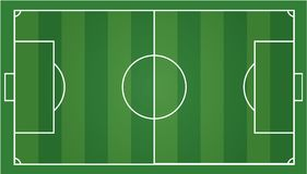 Soccer field, football field. Soccer field football field, gridiron .Vector illustration EPS 10 Stock Images