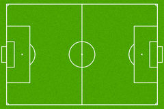 Soccer field or football field, Vector EPS10 Stock Images