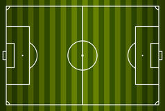 Soccer field or football field. Vector illustration. Eps 10 Stock Photography