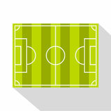 Soccer field or football grass field icon Royalty Free Stock Image