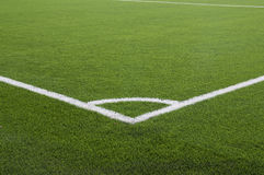 Soccer field. Football field with natural grass green, and the game layout Royalty Free Stock Photography