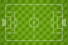 Soccer field. Football. Vector Stock Photo
