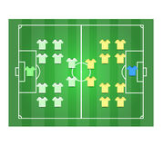 Soccer field and Footballer2 Royalty Free Stock Images