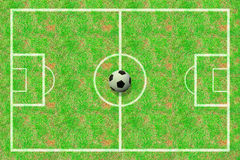 Soccer field Royalty Free Stock Photos