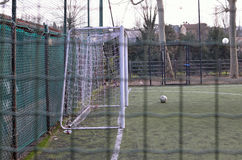 Soccer field. Game over, abandoned Royalty Free Stock Photo