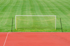 Soccer field with gate Royalty Free Stock Photos
