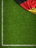 Soccer field with Germany flag Royalty Free Stock Images