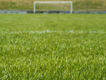 Soccer Field with Goal Royalty Free Stock Photography
