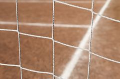 Soccer field goal net Royalty Free Stock Photo